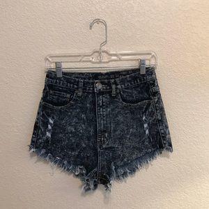 High-Waisted // Acid Washed Jeans